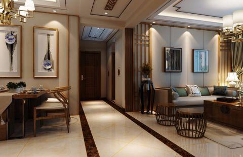 曲江观邸110平新中式风格三居室装修效果图