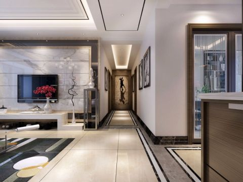 玄关门厅现代简约风格装潢图片