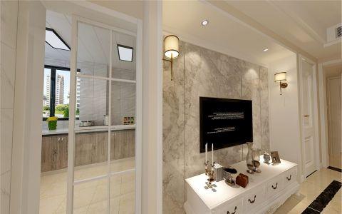 厨房白色推拉门简欧风格装修设计图片