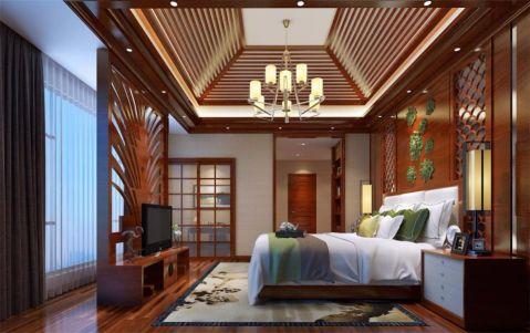 卧室黄色吊顶新中式风格装潢图片