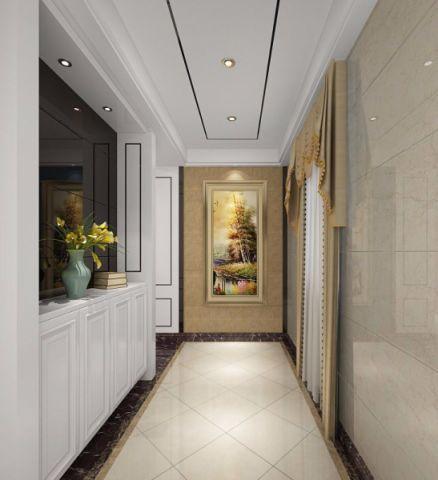 玄关白色背景墙欧式风格装修效果图