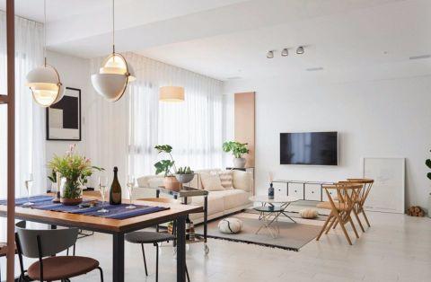 北欧风格90平米二居室装修效果图