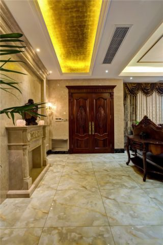 客厅背景墙美式风格装饰设计图片