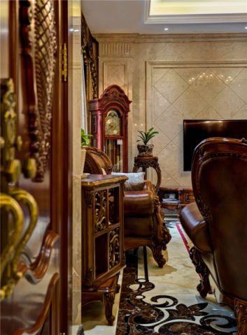 客厅米色细节美式风格装潢设计图片