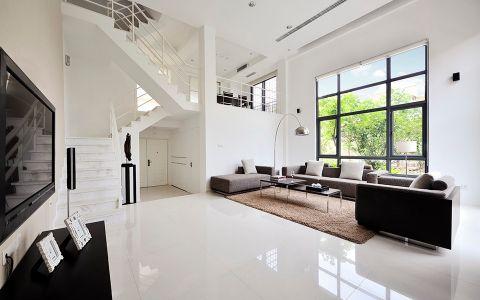 客厅楼梯现代简约风格装潢设计图片