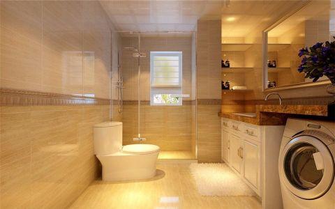 卫生间黄色细节简欧风格效果图