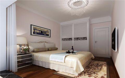 卧室白色背景墙简欧风格装饰效果图