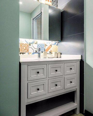 卫生间细节北欧风格装潢图片