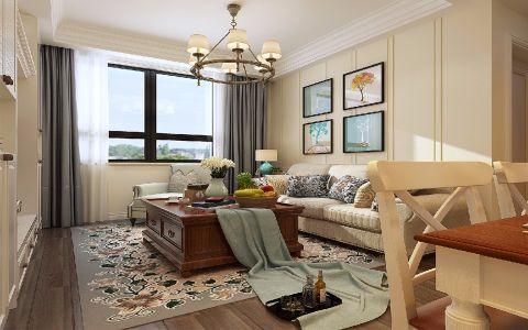 130平米中式风格三居室装修效果图
