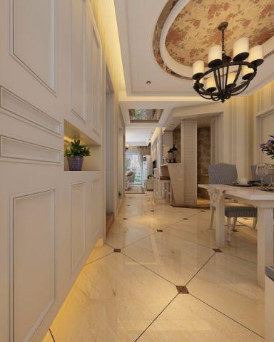 客厅门厅简欧风格装修设计图片