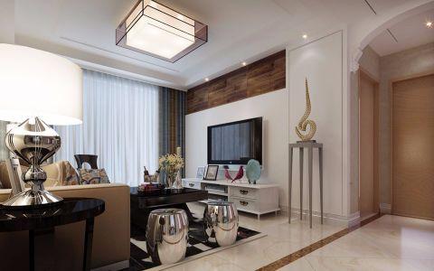 客厅白色走廊现代简约风格装修设计图片