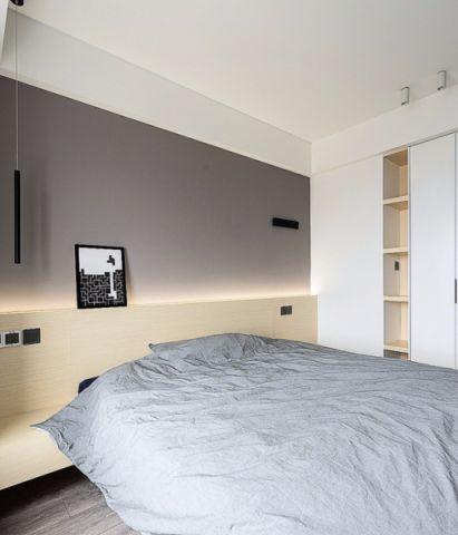 卧室白色吊顶现代简约风格装潢效果图