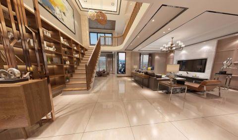 玄关白色楼梯简约风格装潢设计图片