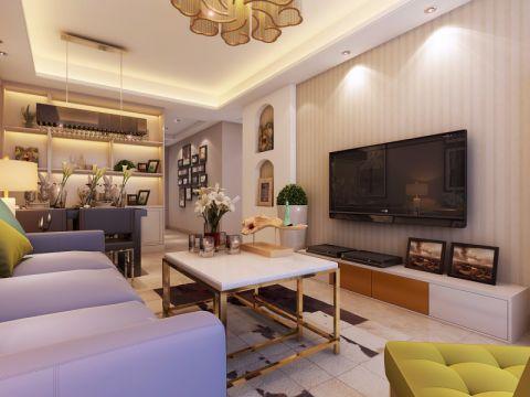 瑞徽苑89平米现代风格小三居装修效果图