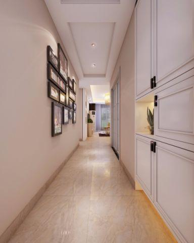 玄关白色走廊现代简约风格装饰效果图