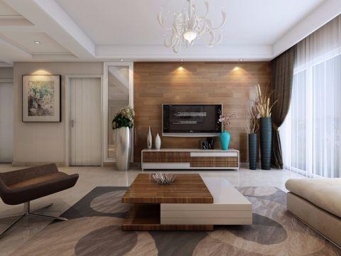 新慧金水岸126平米大三房现代简约装修效果图