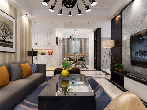 保利拉菲90平米现代简约风格三居室装修效果图