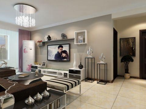 鲁商常春藤132平现代简约三居室装修效果图