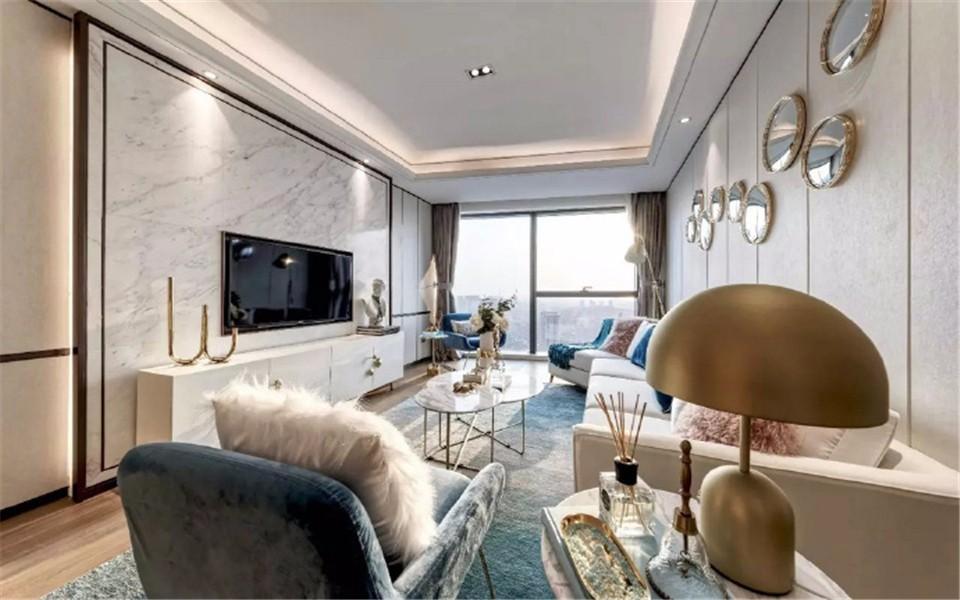 1室1卫2厅75平米现代简约风格