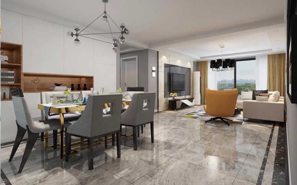 3室1卫1厅120平米现代风格