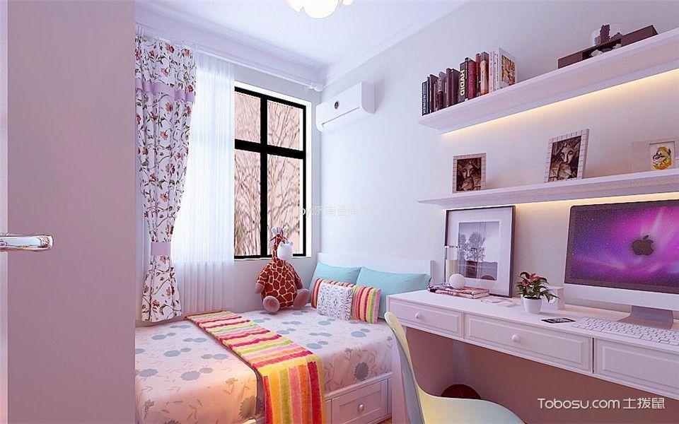 儿童房粉色榻榻米现代简约风格装饰图片