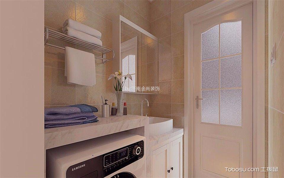 卫生间白色吧台现代简约风格装修设计图片