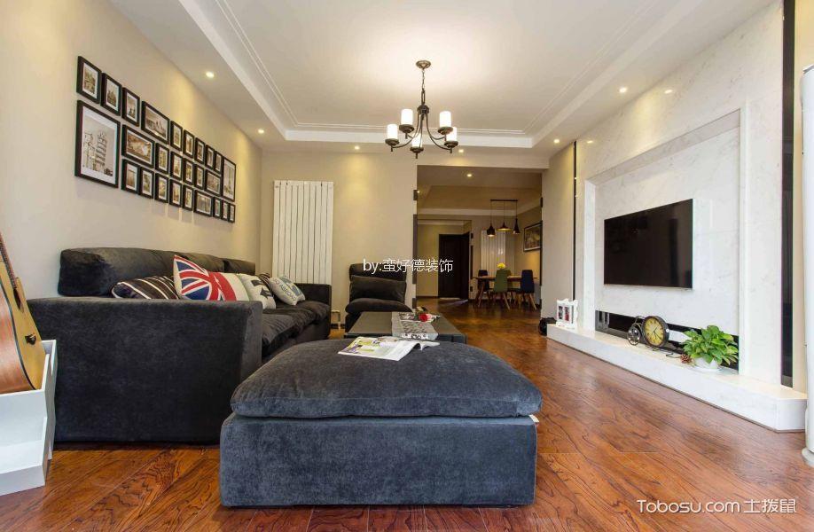 客厅彩色吊顶现代风格装修图片