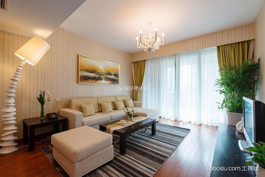 裕景园86平米现代风格三居室装修效果图