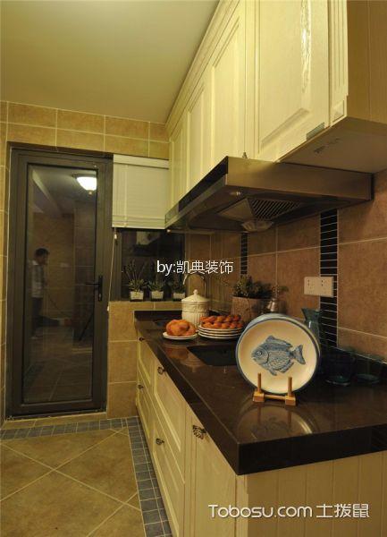 厨房白色吊顶简欧风格装潢设计图片
