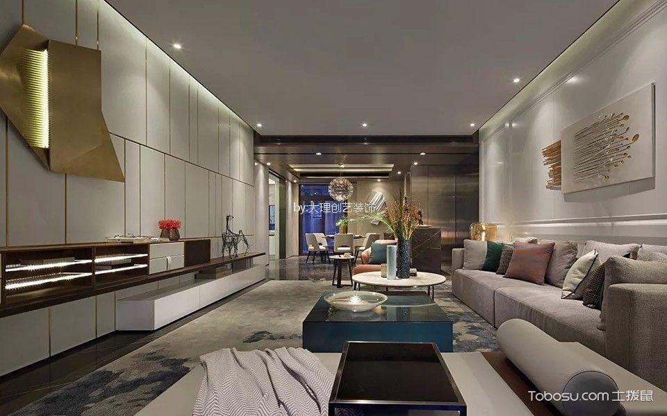 云路中心现代简约风格三居室装修效果图