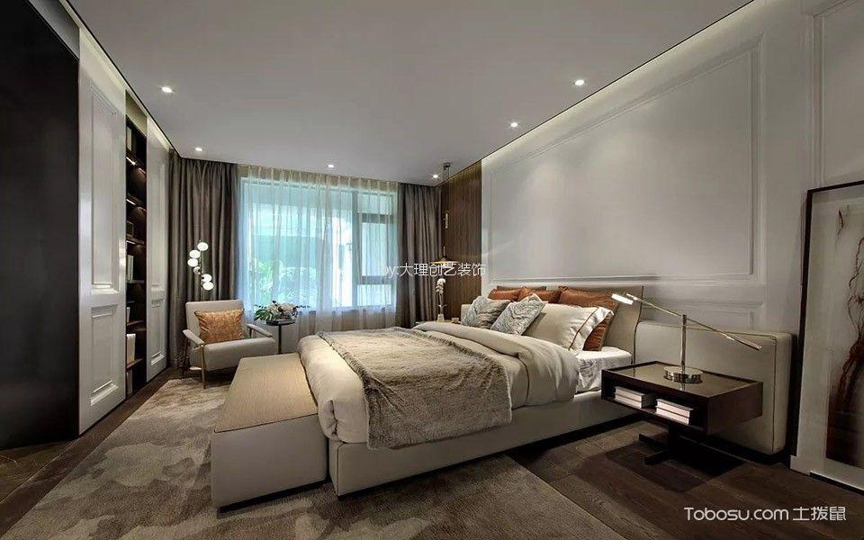 卧室灰色窗帘现代简约风格装饰效果图