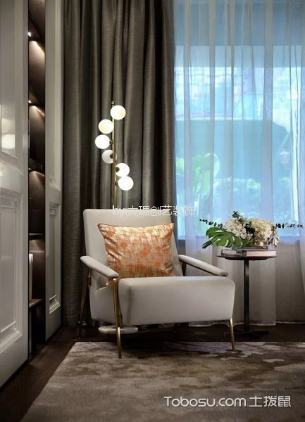 卧室灰色细节现代简约风格装潢效果图