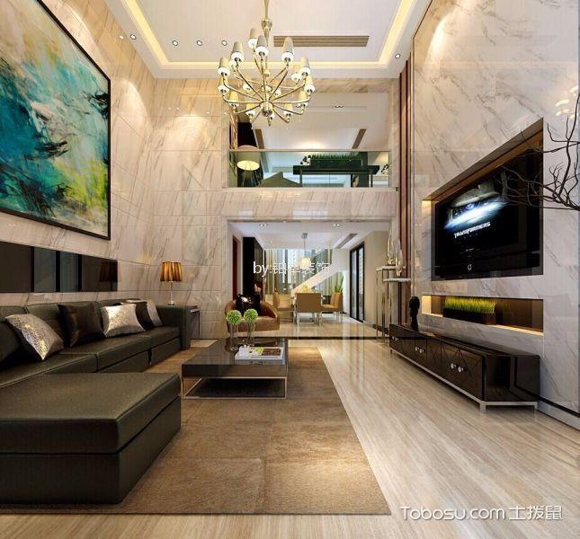 2020现代简约客厅装修设计 2020现代简约阁楼设计图片