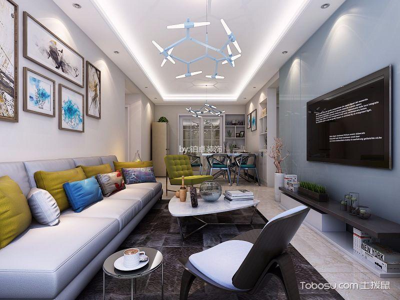 华地润园98㎡三居室简约风格装修效果图
