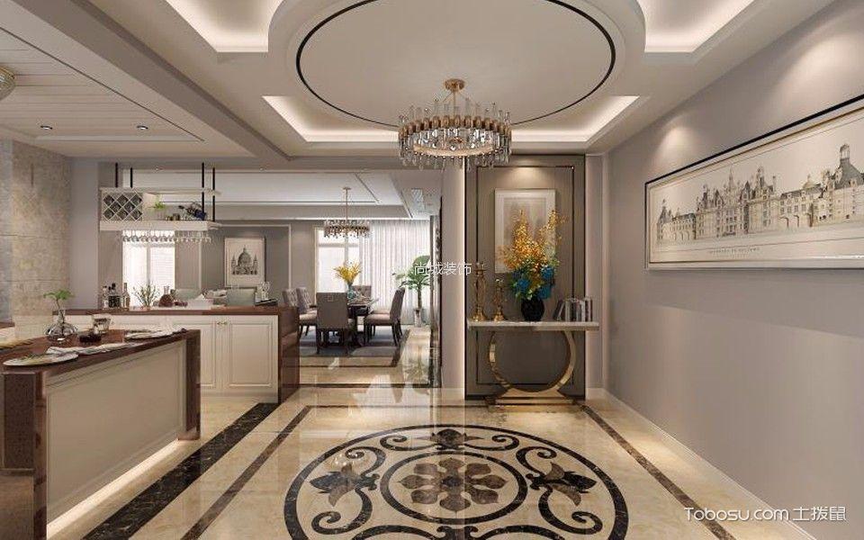厨房咖啡色门厅后现代风格装饰图片