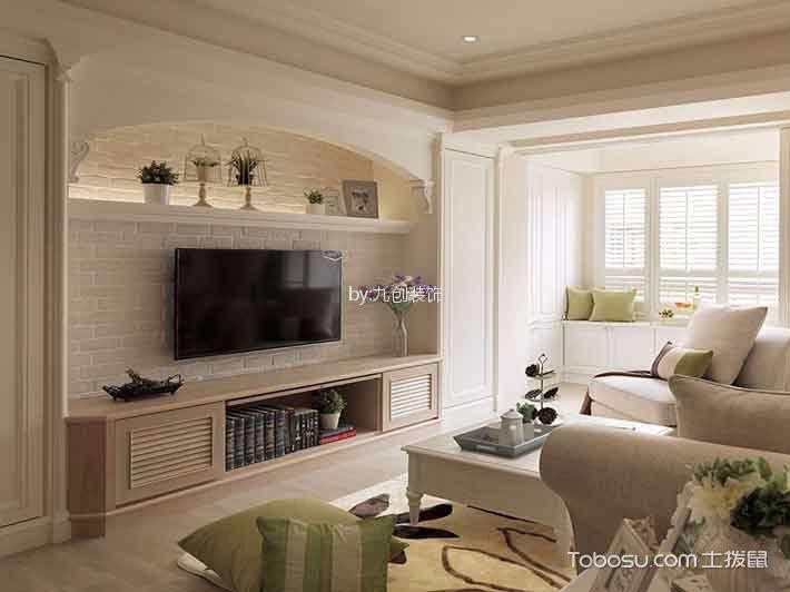 天洲视界城137平美式风格三居室装修效果图