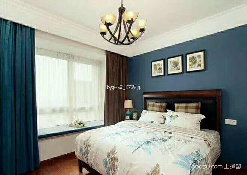 宜居北城120平方美式风格三居室装修效果图