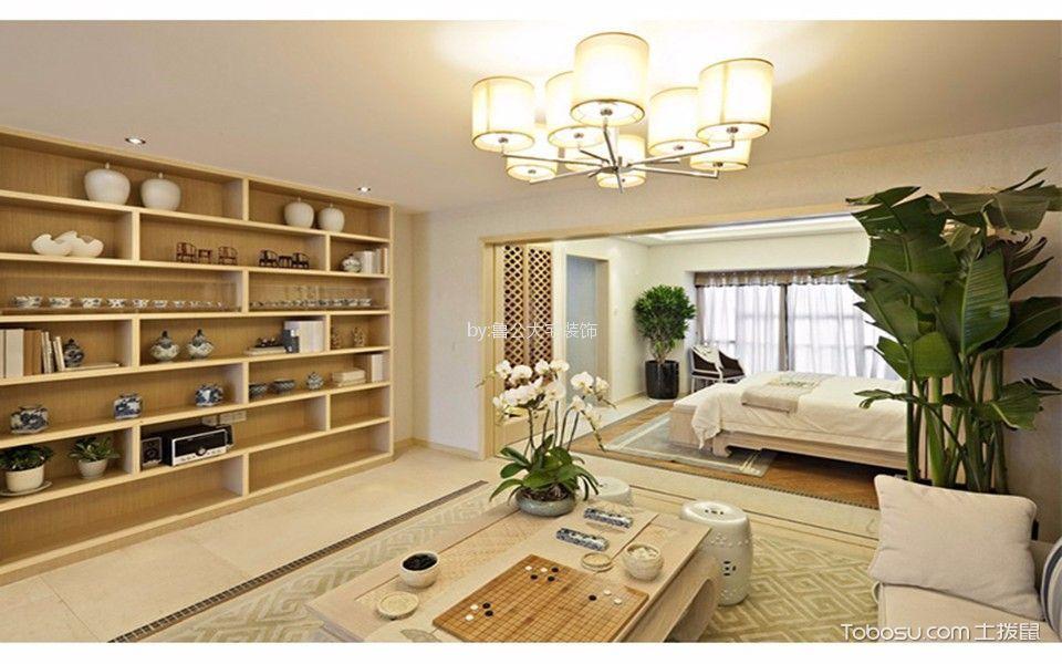 开来都市风景90平简约风格两居室装修效果图
