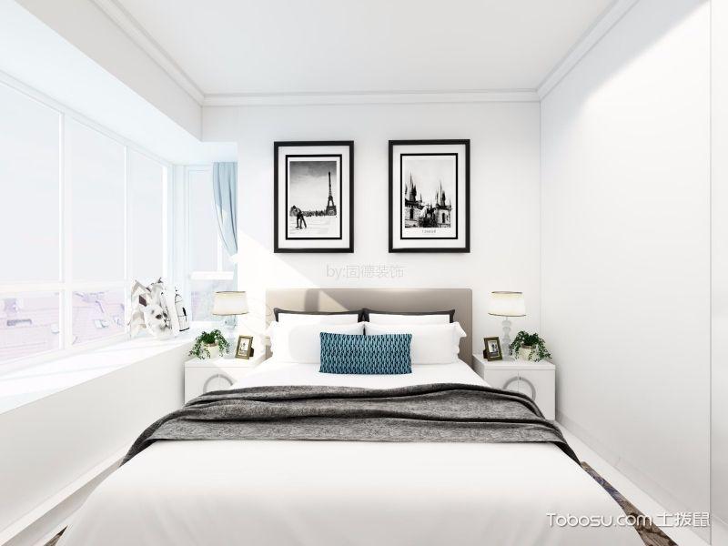 卧室彩色照片墙简约风格效果图