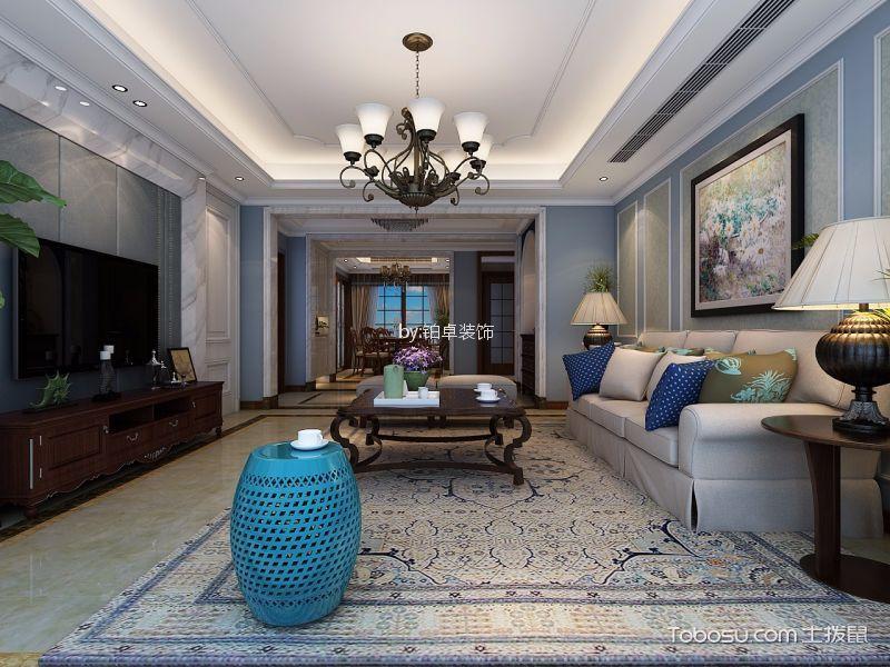绿城玫瑰园160㎡欧式风格四居室装修效果图