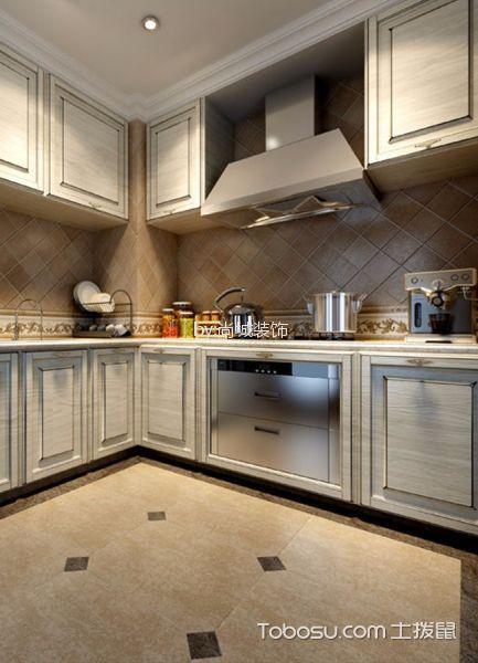 厨房米色背景墙欧式风格装饰效果图