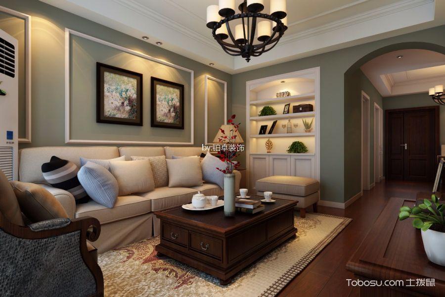 中铁和园89㎡美式三居室装修效果图