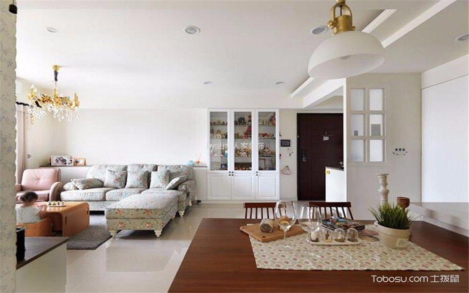 福星惠誉东澜岸143平美式三居室装修效果图