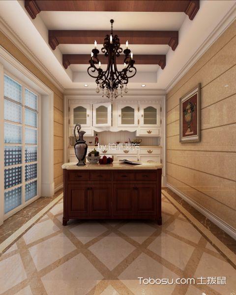 厨房白色吊顶欧式风格装修效果图
