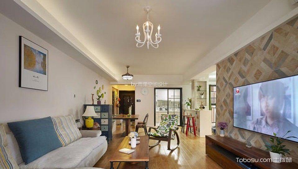 客厅 背景墙_浦泰路90平北欧风格二居室装修效果图