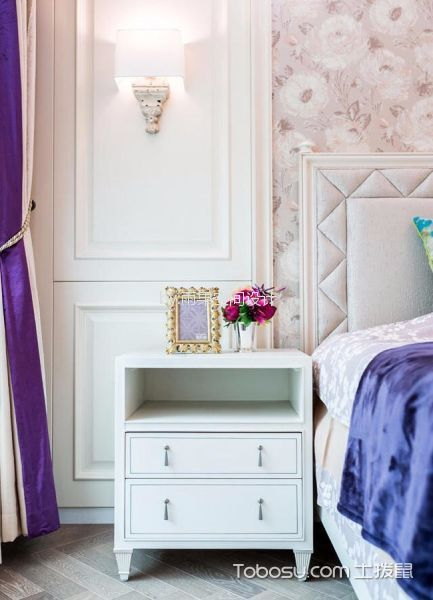 卧室 床头柜_环城南路70平美式风格一居室装修效果图