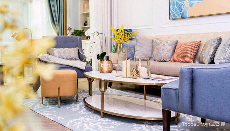 客厅 茶几_环城南路70平美式风格一居室装修效果图