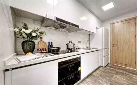 厨房白色橱柜现代简约风格效果图