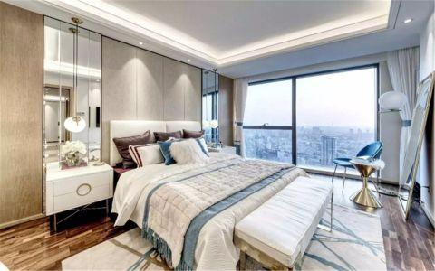 卧室彩色背景墙现代简约风格装修效果图