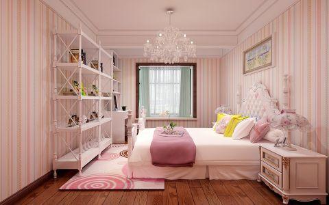 卧室粉色飘窗欧式风格装饰设计图片